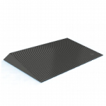 1.5″ Rubber Threshold Ramp w/Beveled Sides