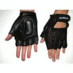 Breathable Mesh and Leather Gloves