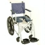 Mariner Rehab Shower Commode Chair – 24″ Wheels; 18″ Seat